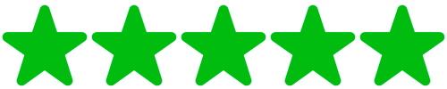 5 sterren - groen 500x100